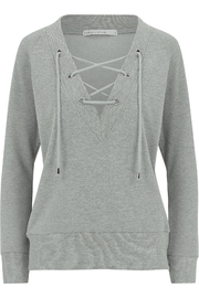 Bishop + Young Lace Up Sweatshirt - Front full body