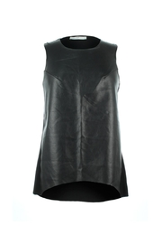 Bishop + Young High Low Leather Tank - Front cropped
