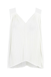 Bishop + Young Pleated Deep-V Top - Product Mini Image