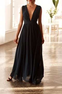 Bishop + Young Plunging Neckline Maxi Dress - Product List Image