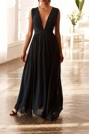 Bishop + Young Plunging Neckline Maxi Dress - Front cropped