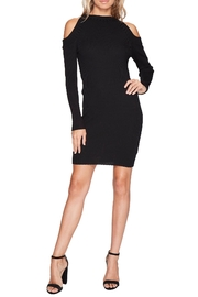 Bishop + Young Ribbed Cold Shoulder Dress - Product Mini Image