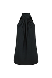 Bishop + Young Satin Tie Neck Top - Front cropped