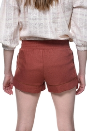 Bishop + Young Terracotta Smocked Short - Side cropped