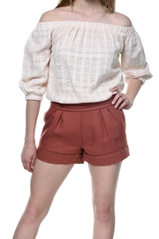 Bishop + Young Terracotta Smocked Short - Front cropped