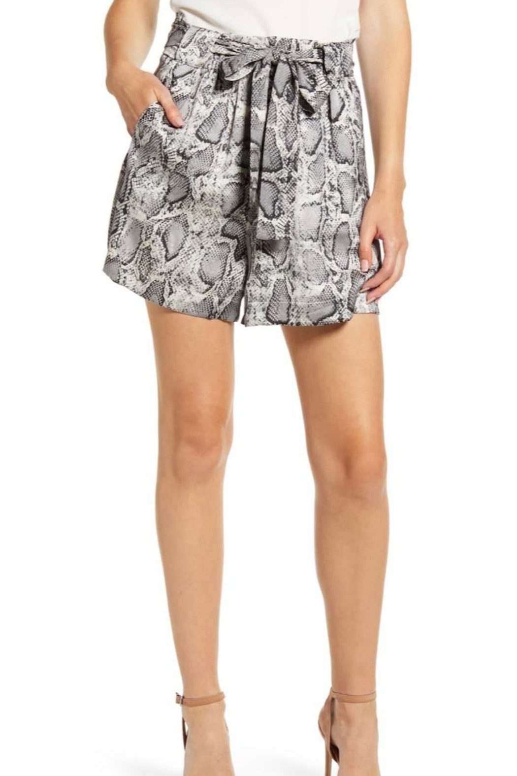Bishop + Young Snake Print Shorts - Main Image