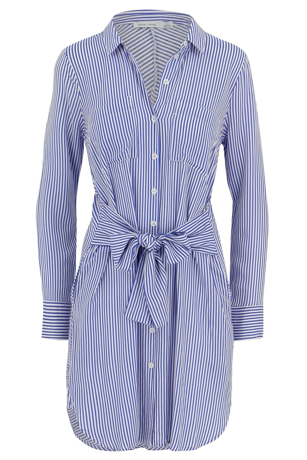 Bishop + Young Stripe Shift Dress - Front Cropped Image