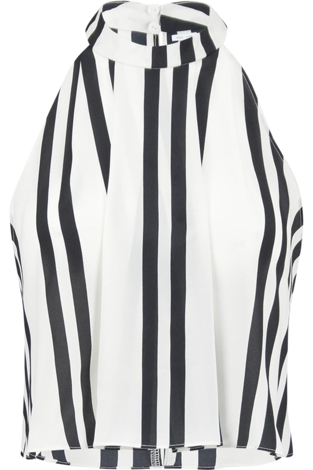 Bishop + Young Striped Sleeveless Blouse - Main Image
