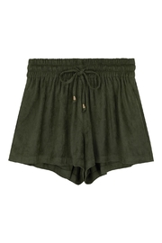 Bishop + Young Suede Drawstring Shorts - Product Mini Image