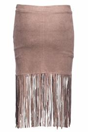 Bishop + Young Suede Fringe Skirt - Front full body