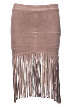 Shoptiques Product: Suede Fringe Skirt