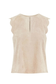 Bishop + Young Suede Scallop Top - Product Mini Image