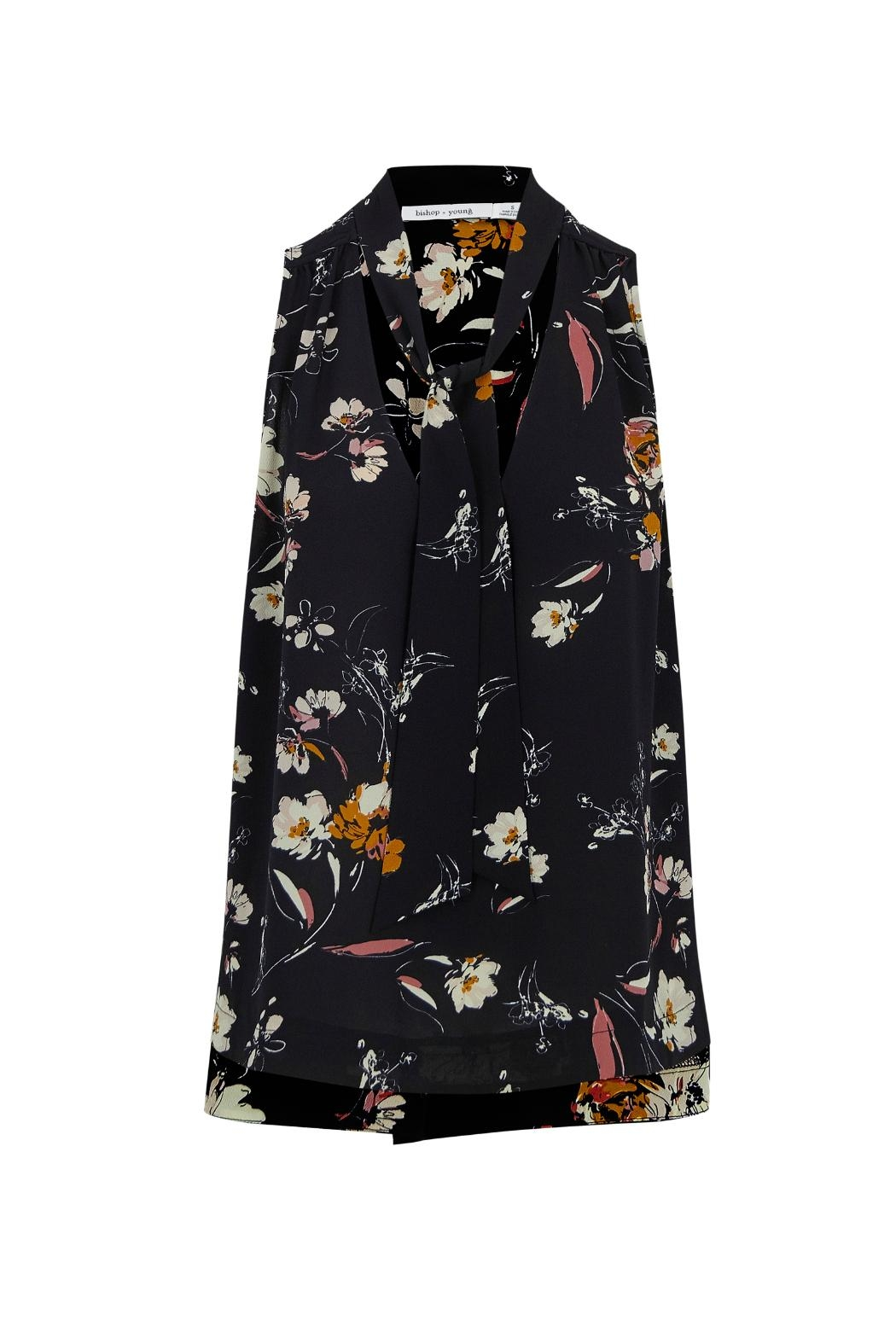 Bishop + Young Floral Tie Neck Top - Main Image