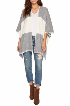 Bishop + Young Two Tone Shawl Poncho - Product List Image