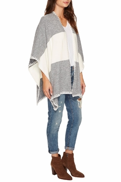 Bishop + Young Two Tone Shawl Poncho - Alternate List Image