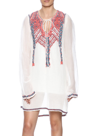 Biya Embroidered Linen Tunic - Product Mini Image