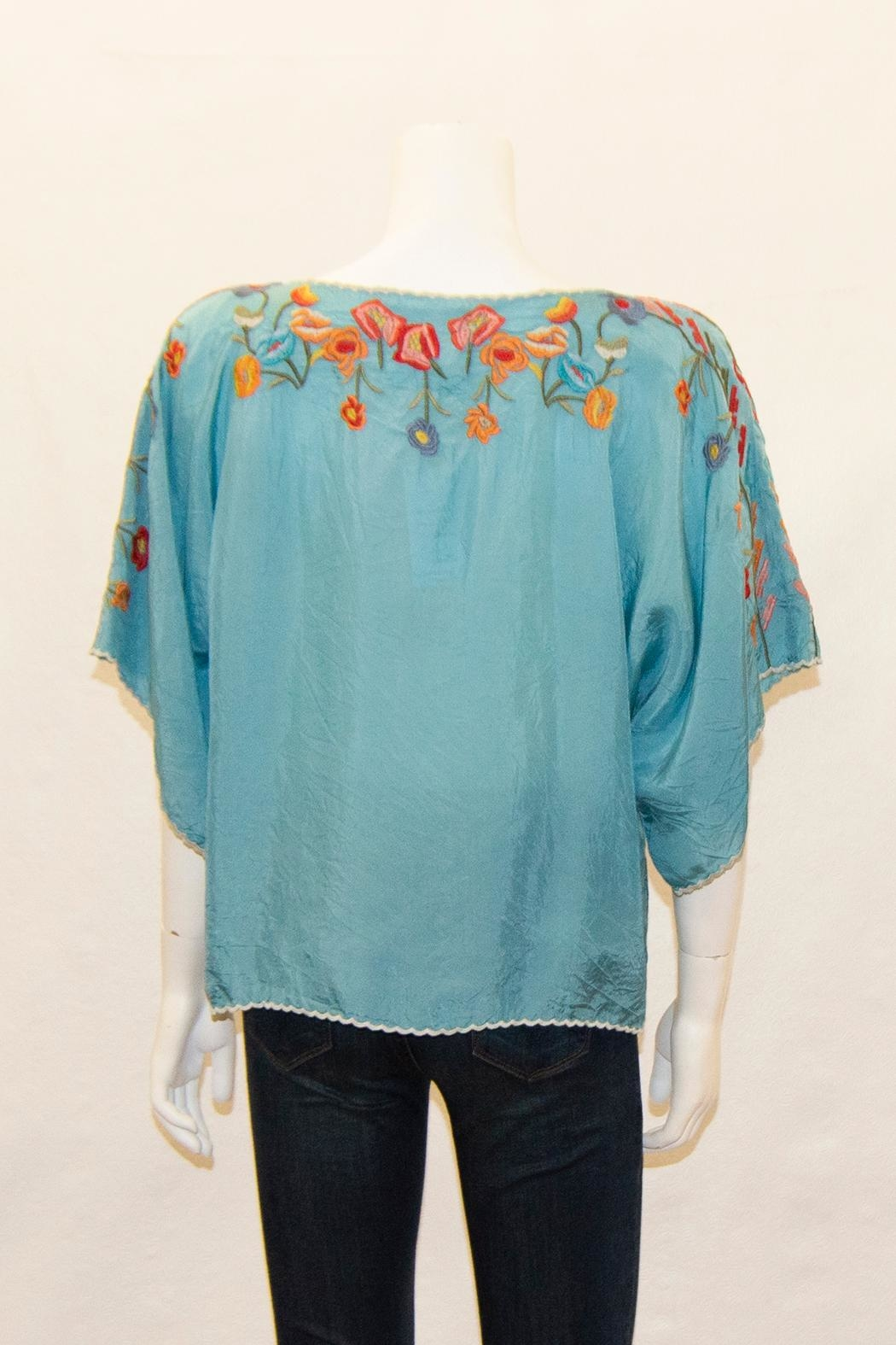 Biya by Johnny Was Lombriga Cupra Blouse - Front Full Image