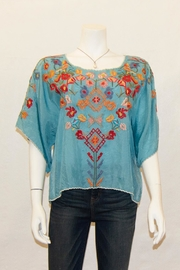 Biya by Johnny Was Lombriga Cupra Blouse - Front cropped