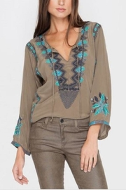 Biya by Johnny Was Taraji Mushroom Blouse - Product Mini Image