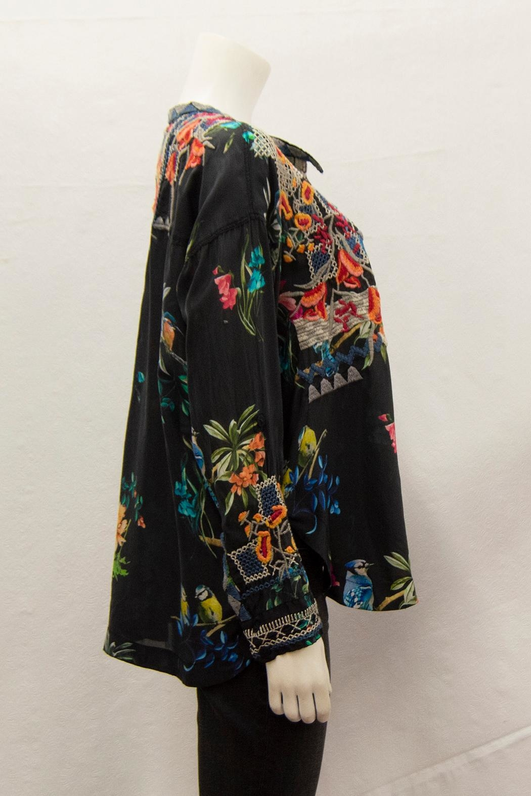 Biya by Johnny Was Veda Silk Blouse - Front Full Image