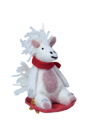 DZI Handmade Bjorn Unicorn Ornament - Front cropped
