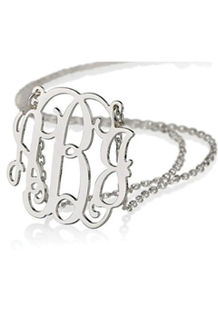 Shoptiques Product: Silver Monogram Necklace