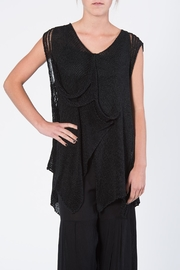 BK Moda Black Vest Sweater - Front cropped