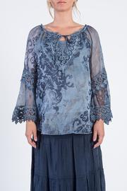 BK Moda Blue Floral Blouse - Product Mini Image