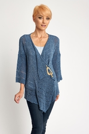 BK Moda Open Weave Knit Cardigan - Product Mini Image