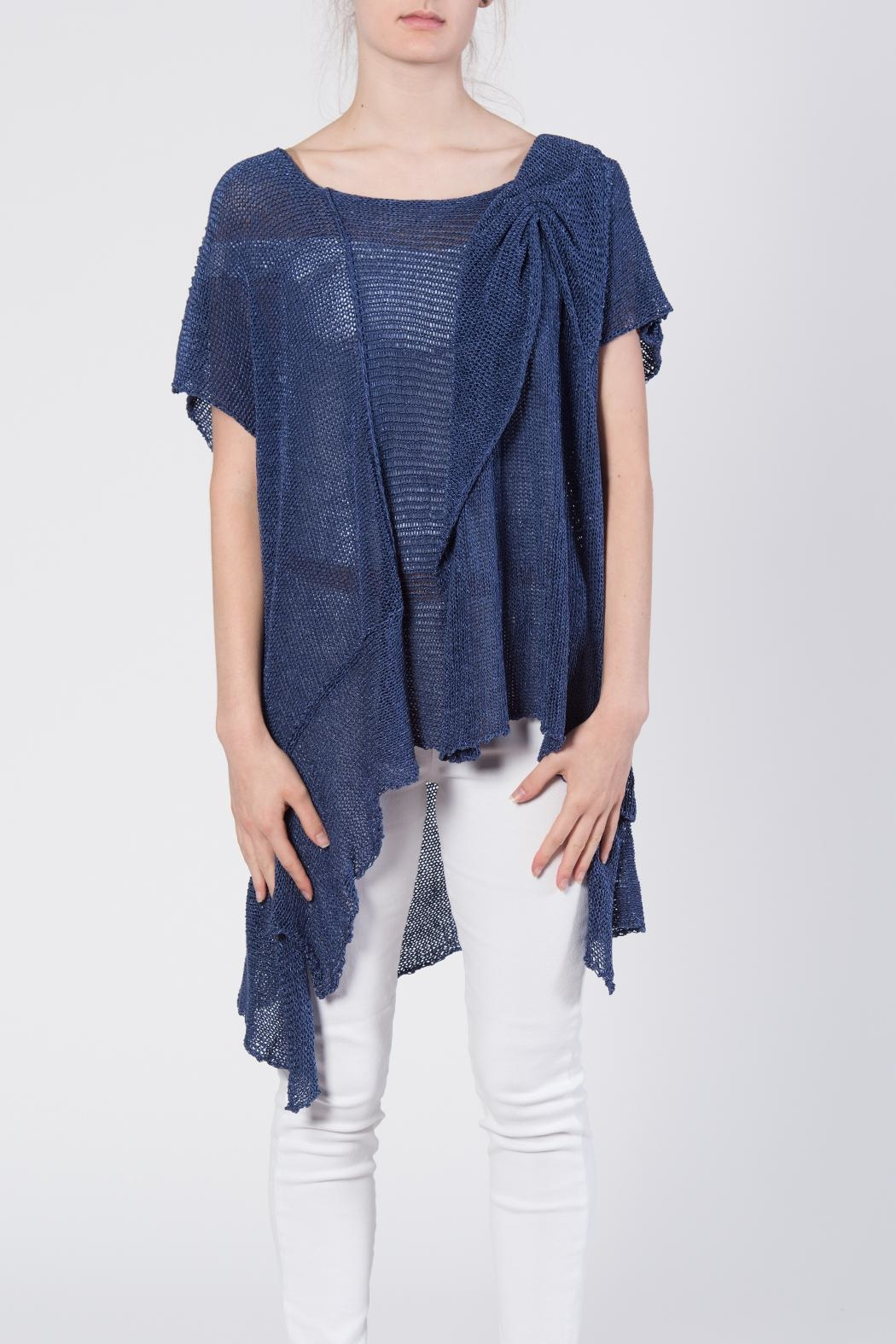 BK Moda Bow Sweater Top - Front Full Image