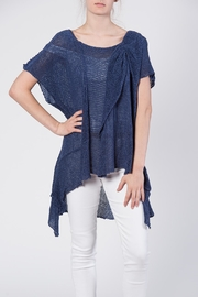 BK Moda Bow Sweater Top - Front cropped