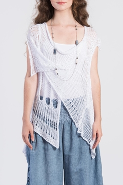 Shoptiques Product: Distressed Wrap Sweater