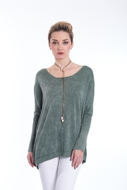 BK Moda Grey Knit Top - Product Mini Image