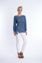 BK Moda Indigo Knit Sweater - Product Mini Image
