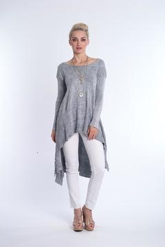 BK Moda High Low Mineral Wash Tunic - Product List Image