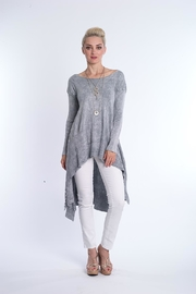 BK Moda Long Grey Knit - Product Mini Image