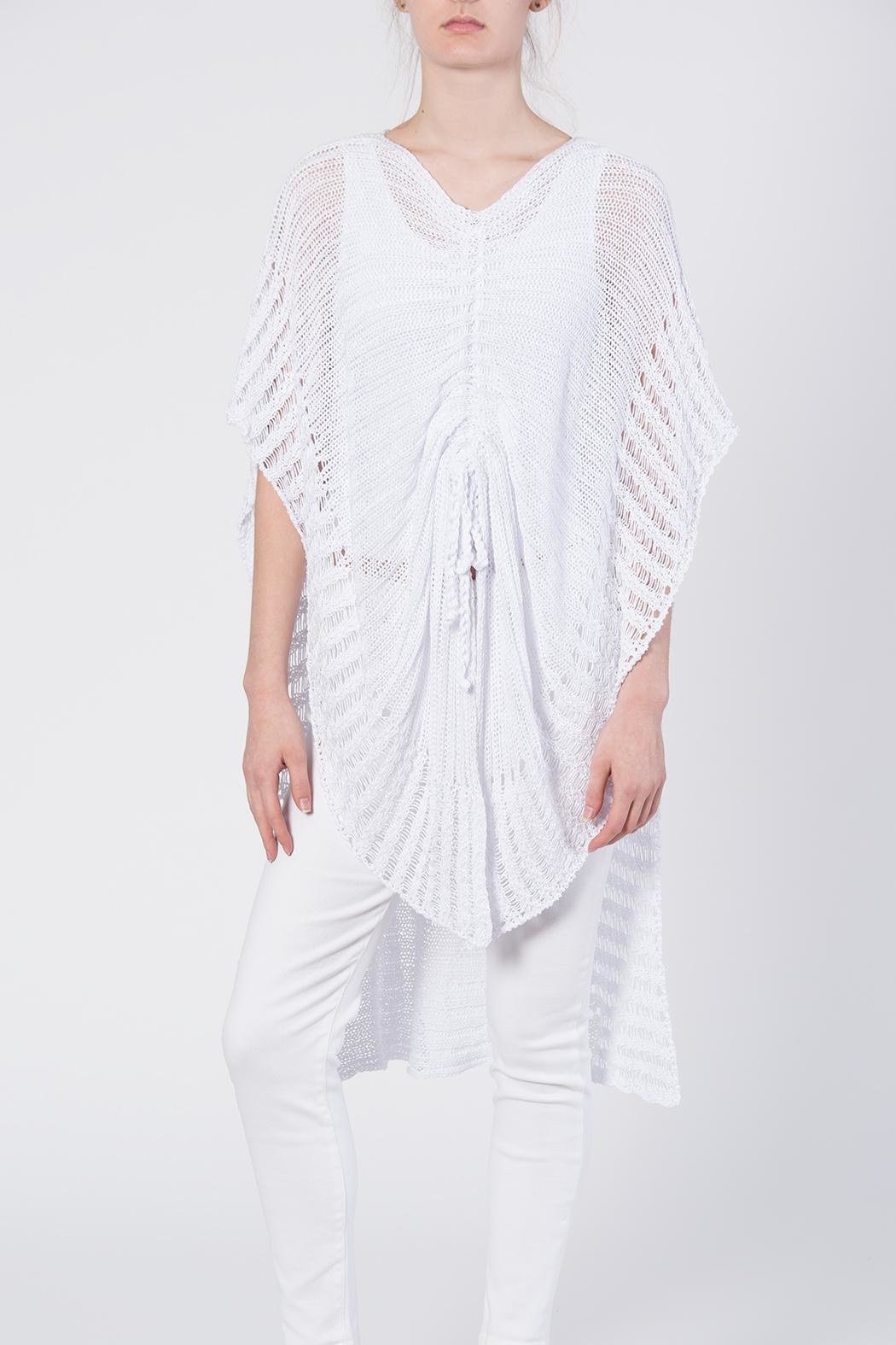 BK Moda White Cape Sweater - Front Cropped Image