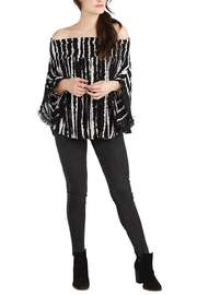 Mud Pie Blac Stripe Top - Product Mini Image