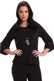 Bali Corp. Black 3/4 Sweater Top by Bali - Product Mini Image