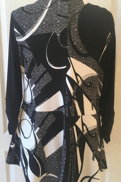 Joseph Ribkoff  Black and cream print open front cardigan - Alternate List Image