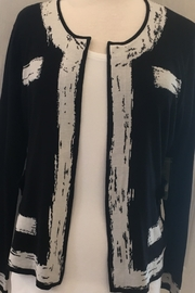 Nic+Zoe Black and tan cardigan sweater - Front cropped