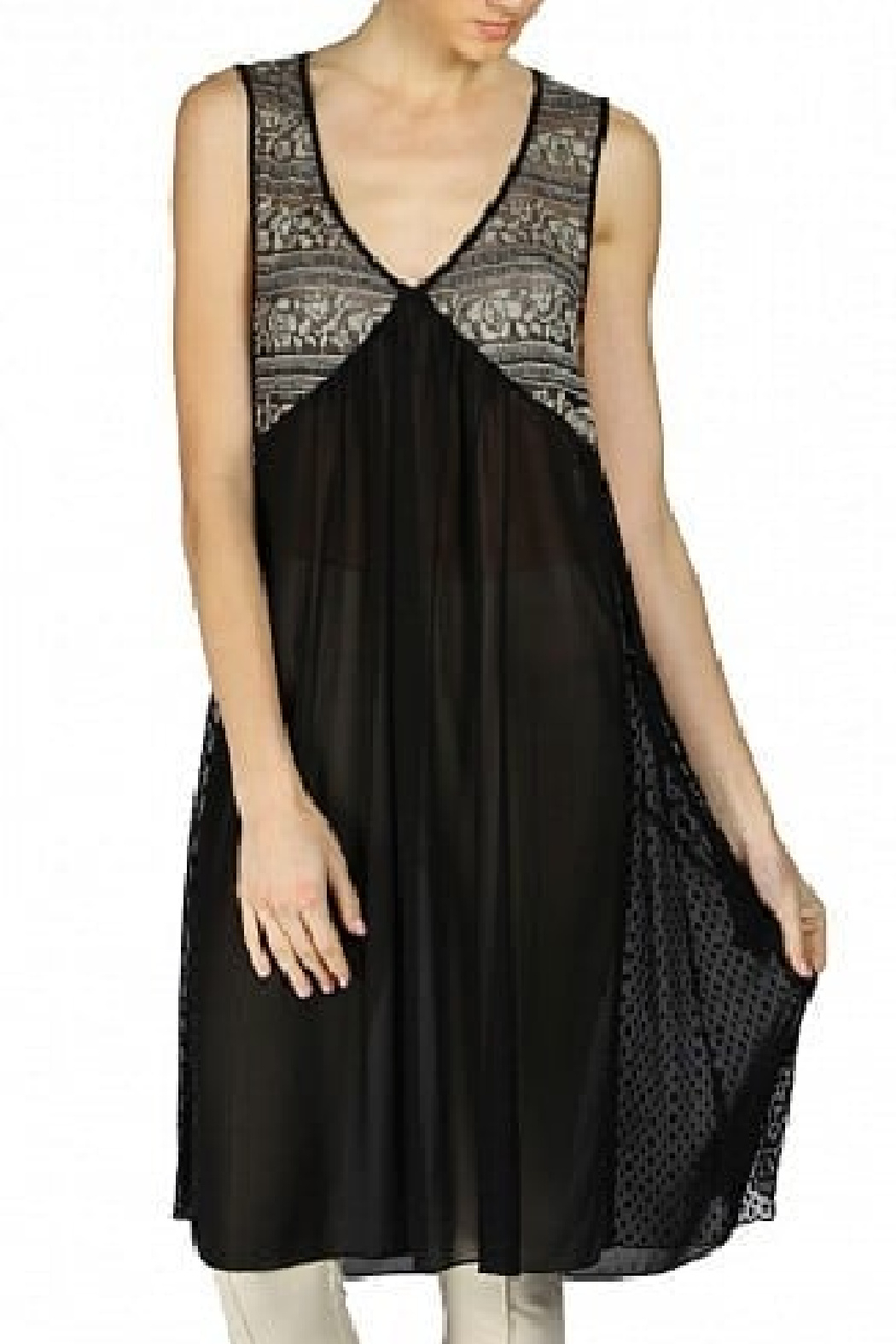 A'reve  Black and Taupe Lace Dress/Tunic - Main Image
