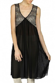A'reve  Black and Taupe Lace Dress/Tunic - Front cropped