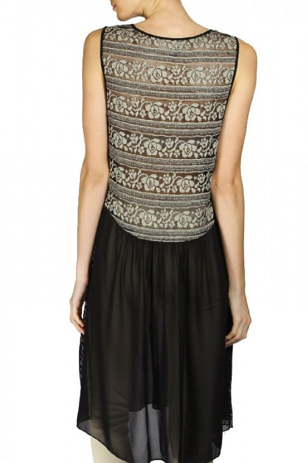 A'reve  Black and Taupe Lace Dress/Tunic - Front Full Image