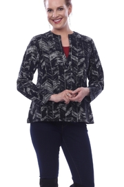 Parsley and Sage Black and vanilla patterned jacket with gold metallic - Product Mini Image