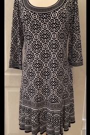 Joseph Ribkoff  Black and white abstract tunic dress - Product Mini Image