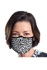 DiJore Black and White Animal Print Face Mask - Product Mini Image