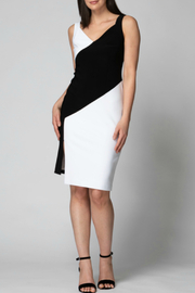 Joseph Ribkoff Black and White Diagonal Dress - Product Mini Image