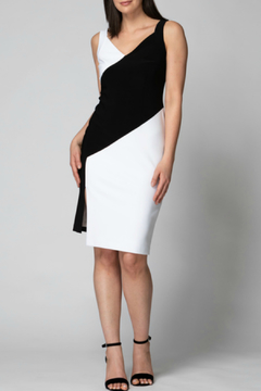 Joseph Ribkoff Black and White Diagonal Dress - Alternate List Image