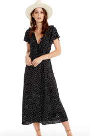 Saltwater Luxe Black and White Dot Dress - Product Mini Image